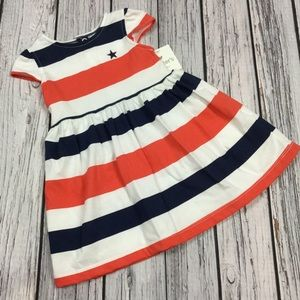 Carters Girls 3 6 12 M Striped 4th Of July Dress
